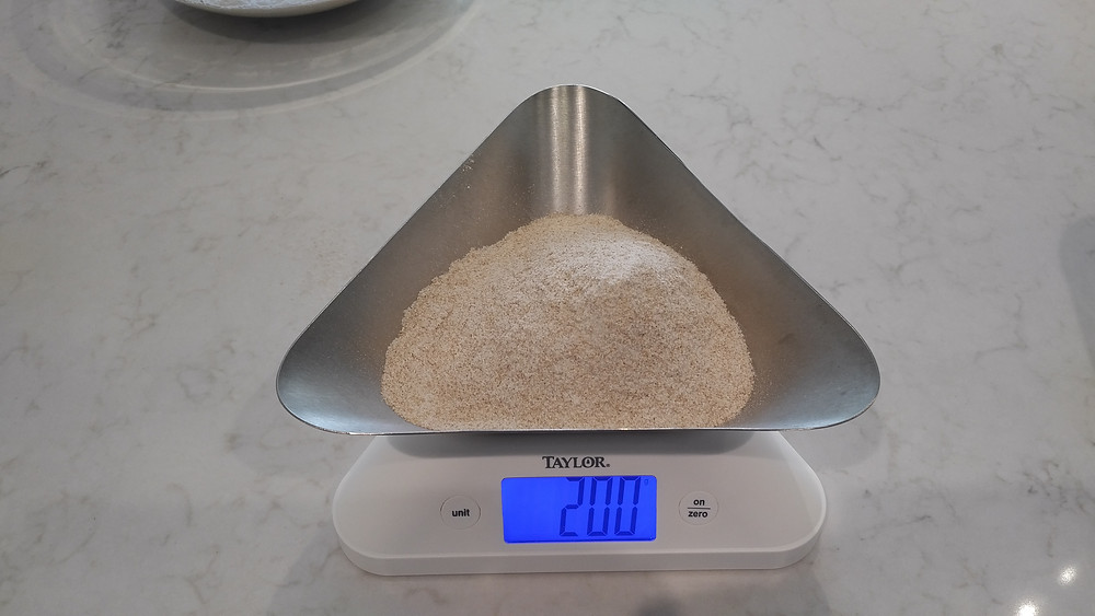 200g sprouted whole wheat flour