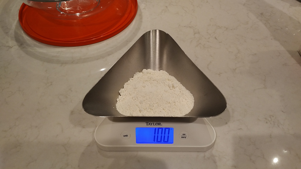 100g of all purpose flour