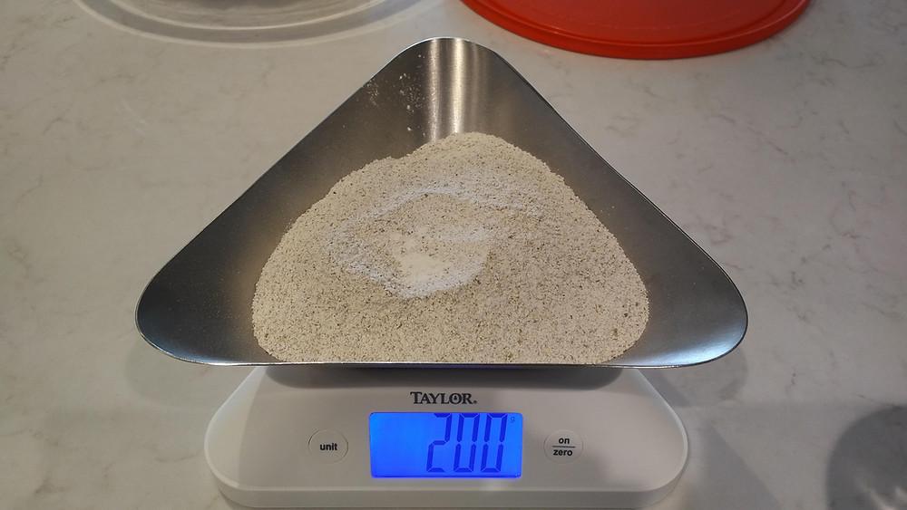 50g dark rye flour