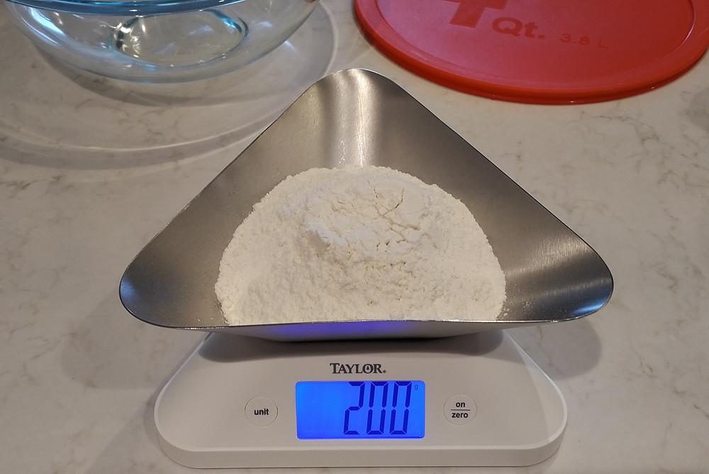 Measure 200g of all purpose flour