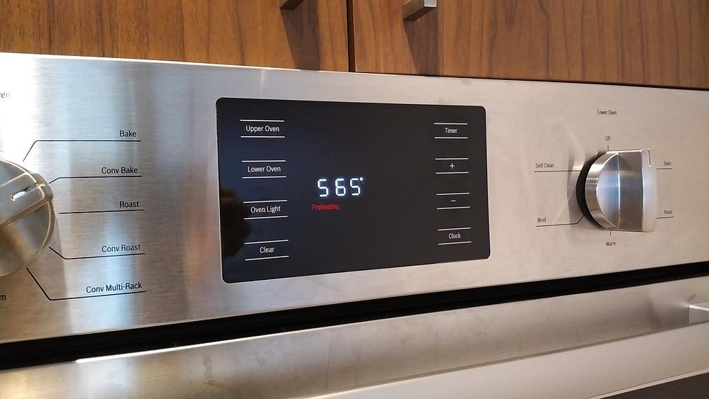 Preheat oven to 565 degrees