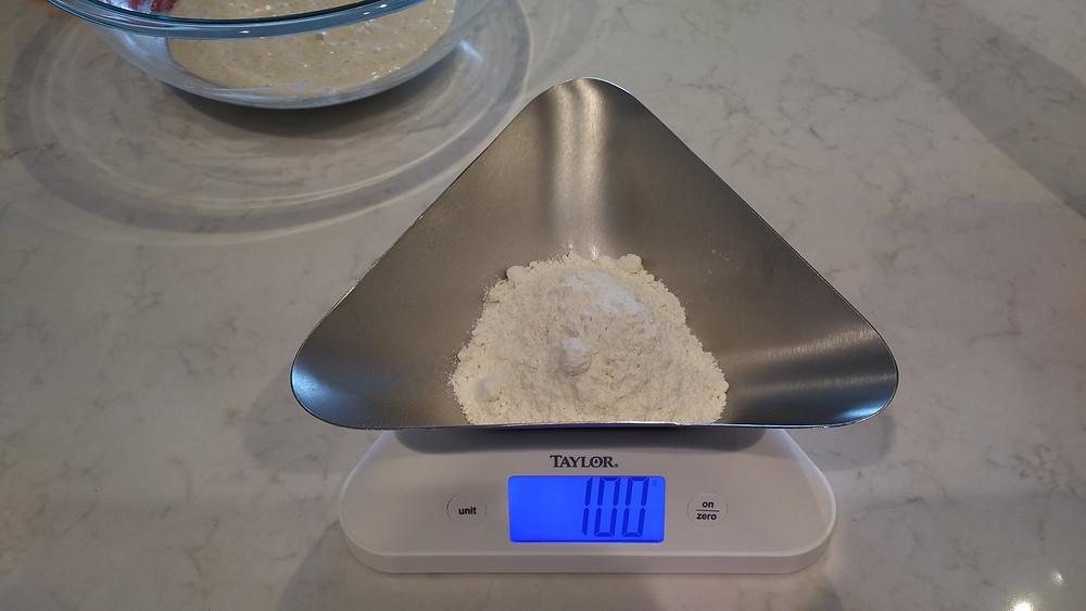 100g of flour