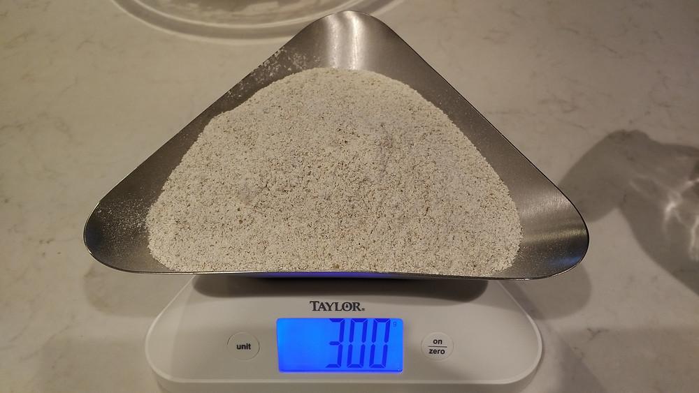 100g dark rye flour