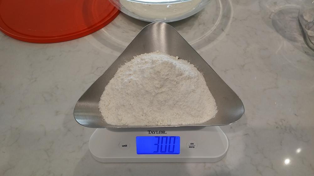 300g flour