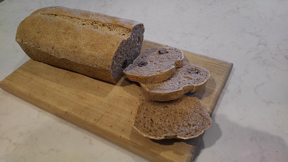 Sliced olive loaf