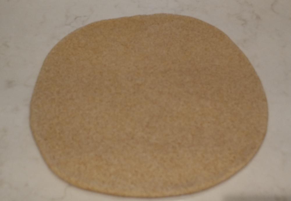 Second dough disc