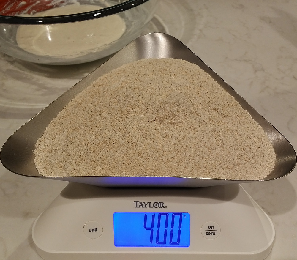 400g whole wheat flour