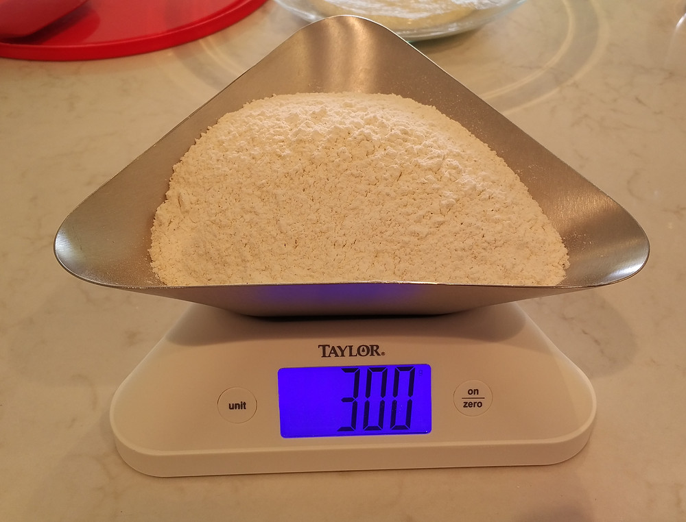 Add 300g of flour