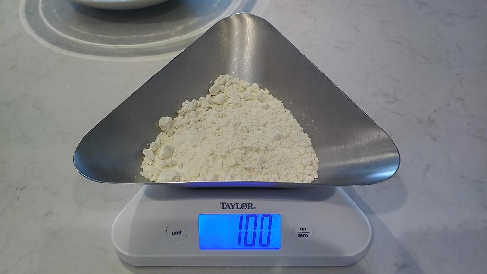 100g flour