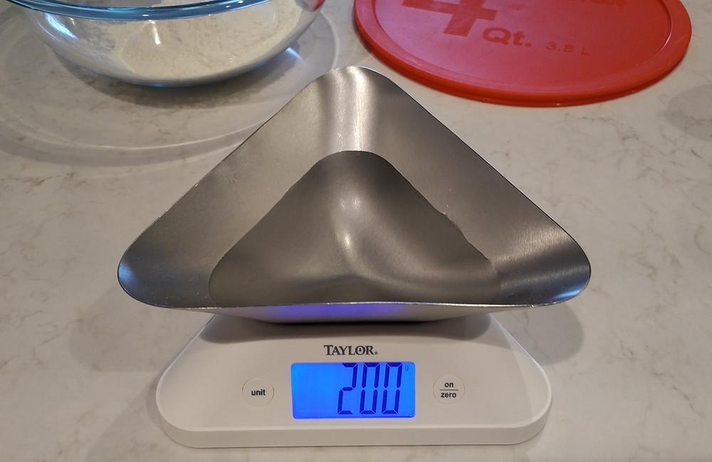 Measure 200g of water