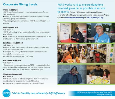 POTS Corporate Giving Brochure back