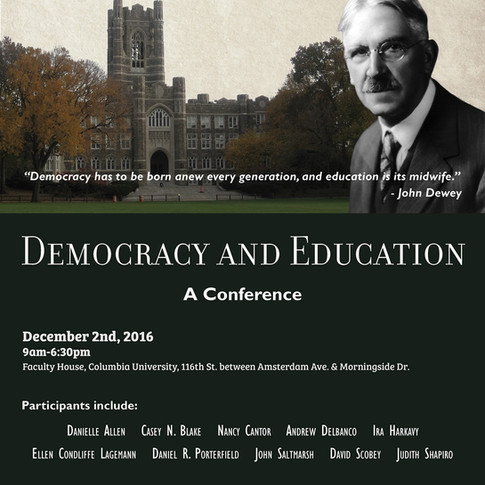 Democracy and Education Poster