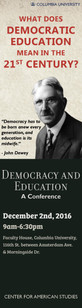 Democracy and Education Poster Ad