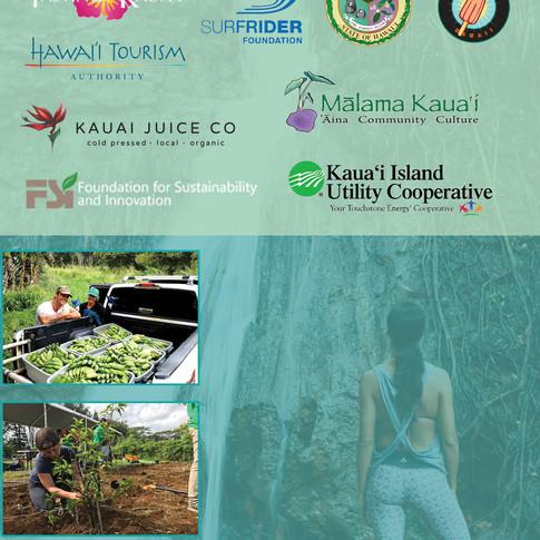 Volunteer Kaua'i Island Card Back