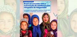 Brasil vai conceder visto e autorização de residência para refugiados do Afeganistão