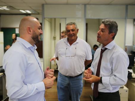 Presidente da Câmara faz visita técnica na ALESP