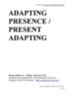 722_ADAPTING PRESENCE-PRESENT ADAPTING_S