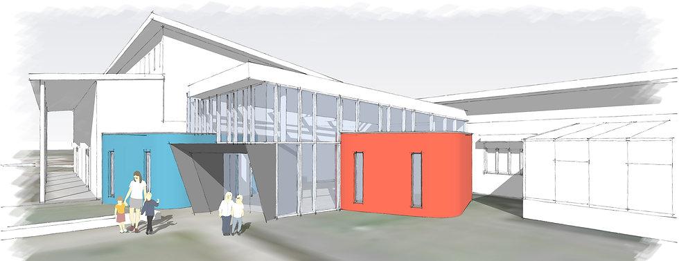 ahp architects & surveyors ltd claycotts school new entrance