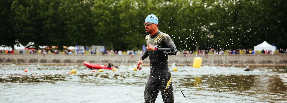 Triathlon M, Parcours Natation
