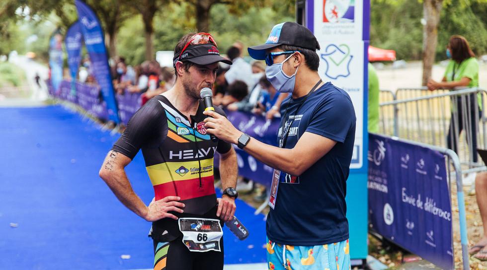 Vainqueur course triathlon M