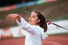 Jonna Aigouy au lancer du javelot; Championnats de France Elite d'athlétisme 2021