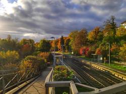 Bahnhof Herbst 2020