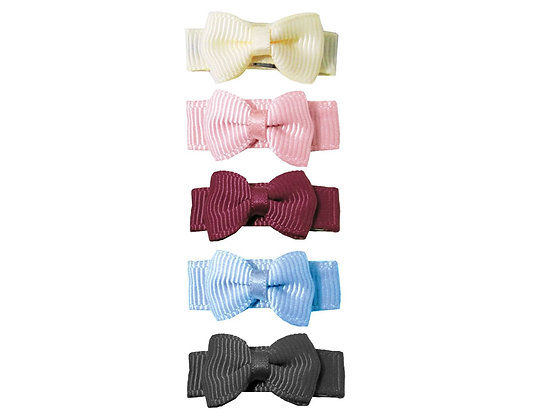 Baby Wisp - Small Snap Tuxedo Bows 5 Pack - Victorian Tea
