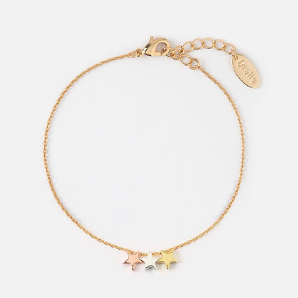Orelia Three Little Stars Chain Bracelet