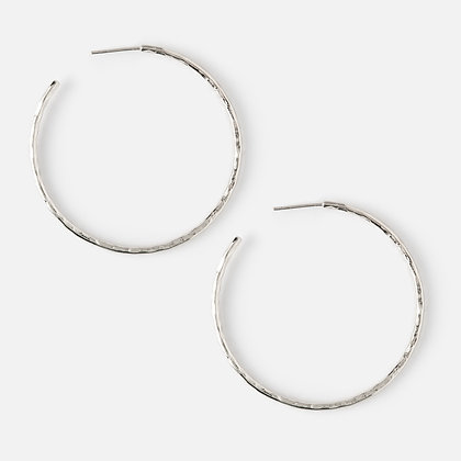 Orelia Hammered Hoop Earrings