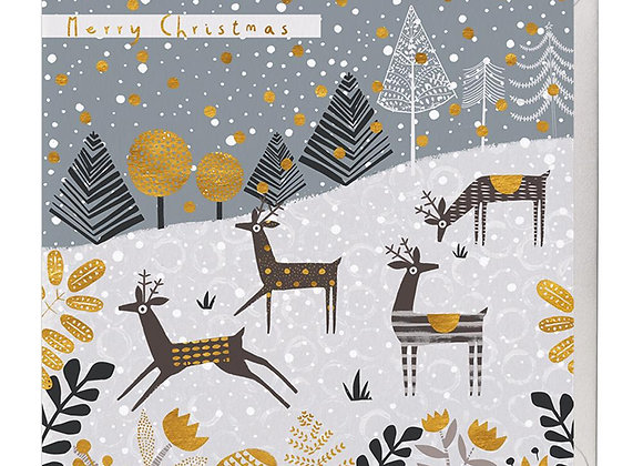 Playful Deer Christmas Card