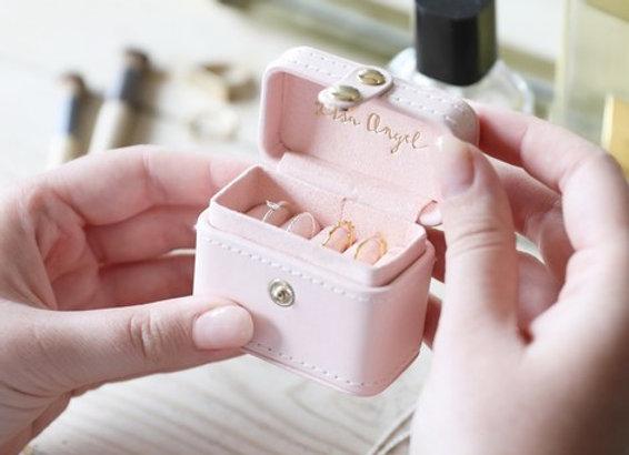 Travel Ring Box Pale Pink