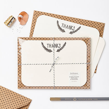 Katie Leamon 'Thanks' Notecards