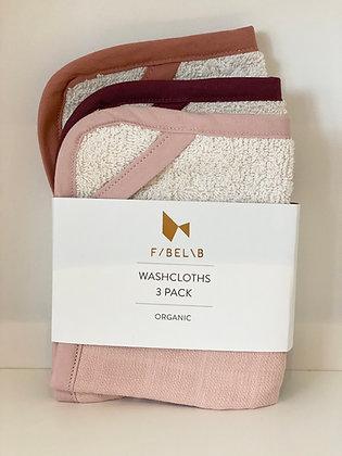 Organic Washcloths - 3 Pack - Berry