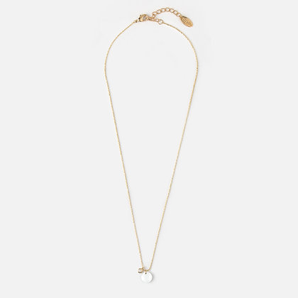 Orelia Stone Drop Necklace Gold