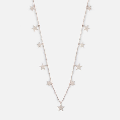 Orelia Falling Star Rope Long Necklace