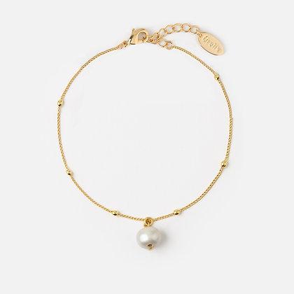 Orelia Pearl Drop Chain Bracelet