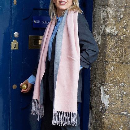 Pink/Grey Blanket Scarf