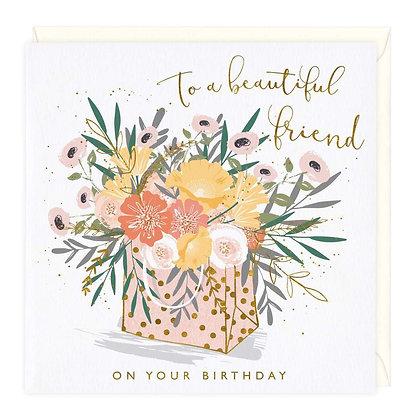 Flower Bag Beautiful Friend Card
