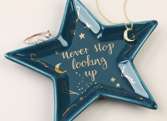 'Never Stop Looking Up' Star Trinket Dish