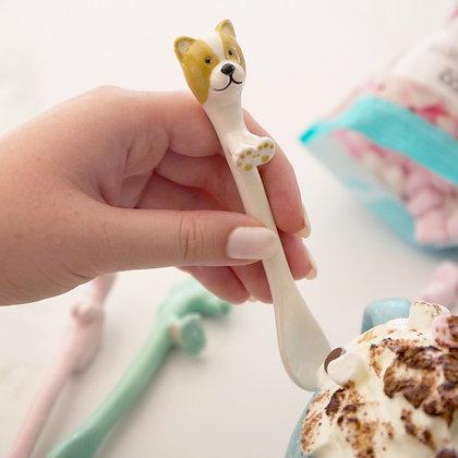 Ceramic Dog Spoon