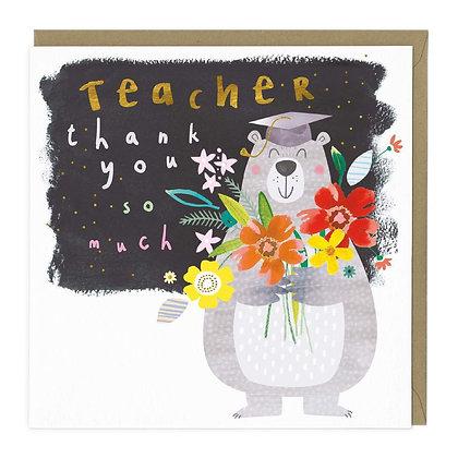 Teacher Bear Thank You Card
