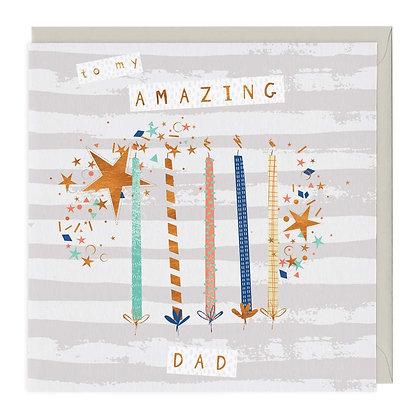 To My Amazing Dad Birthday Card