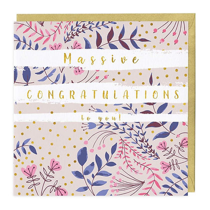 Massive Congratulations To You Card