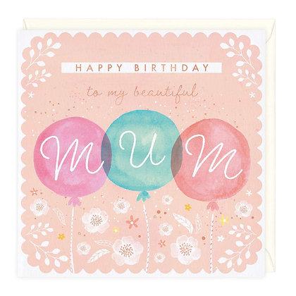 Beautiful Mum Birthday Card