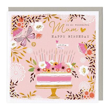 Wonderful Mum Birthday Card