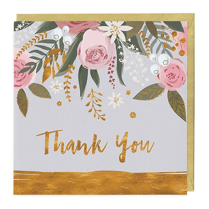 Floral Thank You Card