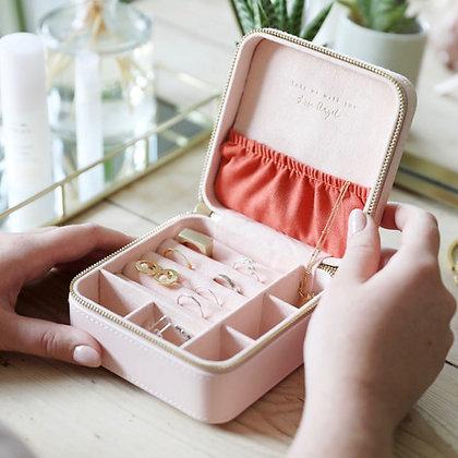 Pale Pink Square Jewellery Box