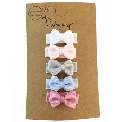Baby Wisp - Snap Clip Tuxedo Bow 5 Pack - Pixie