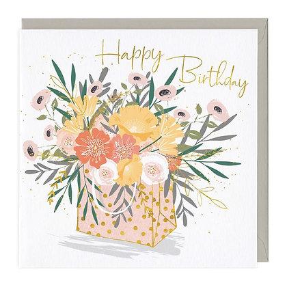 Beautiful Bag of Flowers Birthday Card