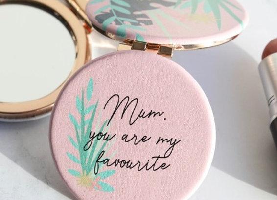 Pink Botanical 'Mum' Mirror